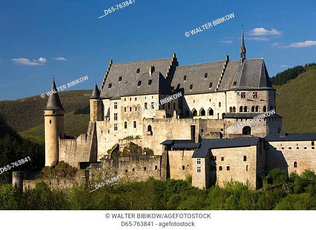 Luxembourg, Vianden, Vianden Chateau (b. 15th c.)
