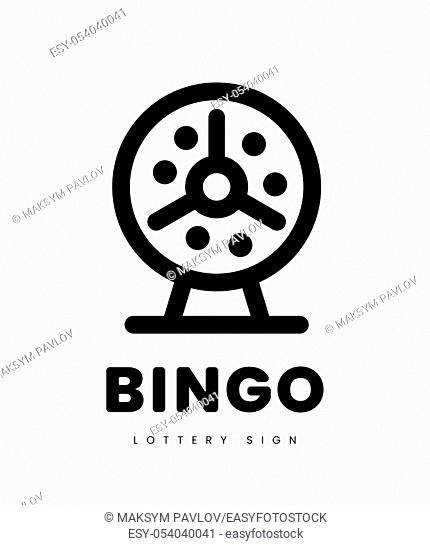 Lottery bingo with machine and lottery balls inside. vector illustration on white background