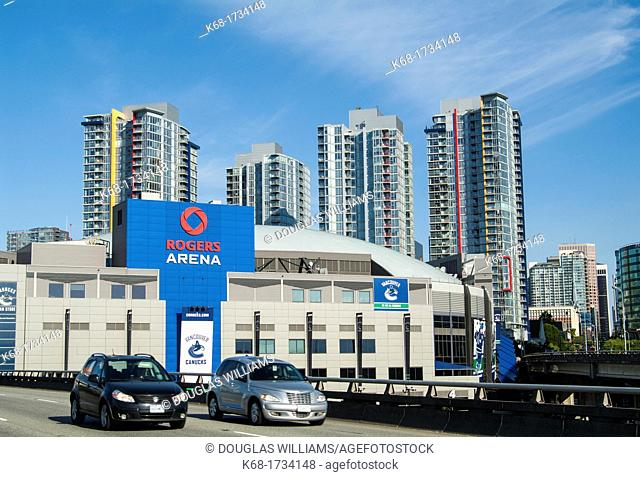 Rogers Arena in downtown Vancouver, BC, Canada