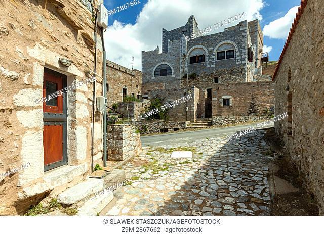 Deserted village of Vathia in Laconia, Greece. Mani Peninsula