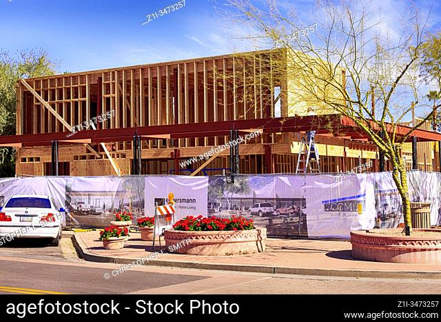 New construction in the Arts District of Old Town Scotssdale AZ