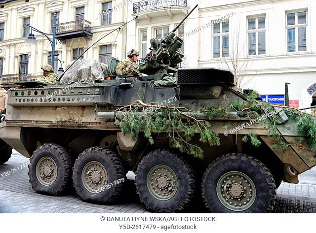 Operation Knightrider is to demonstrate NATO forces' freedom of movement along NATO interior lines, as well as the U.S. commitment to NATO security