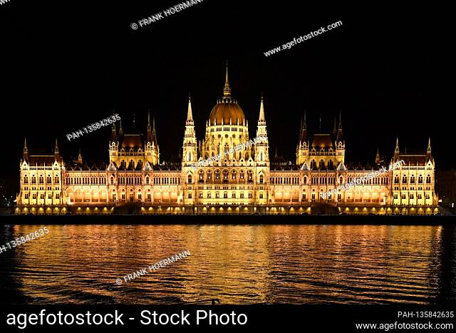 The parliament building, in German outdated Reichstag, is the seat of the Hungarian parliament in Budapest. The 268-meter-long building