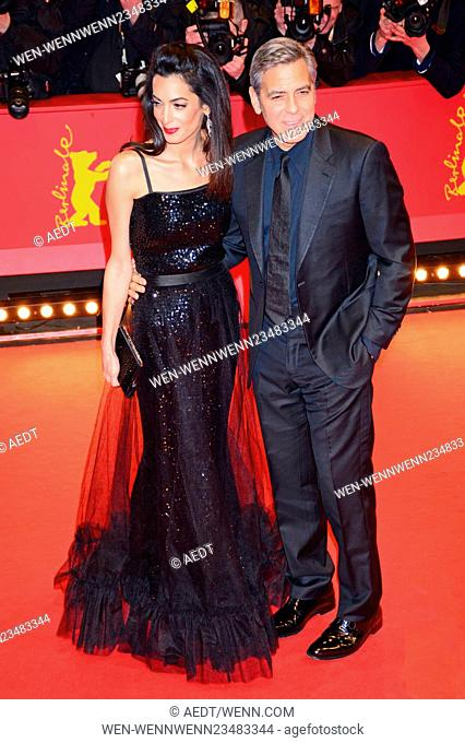 66th annual International Berlin Film Festival (Berlinale) - Hail, Caesar! - Premiere and Opening at Berlinale Palace Featuring: Amal Clooney