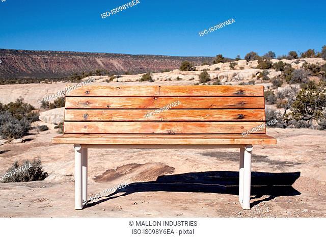 Bench in the desert, Moab, Utah, USA