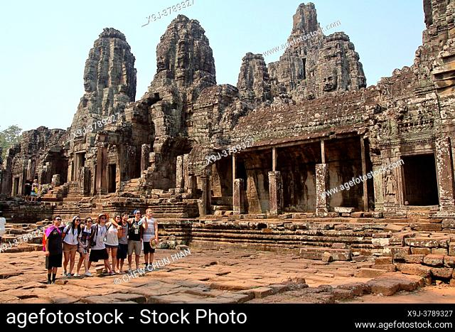 Bayon Temple in the Angkor Thom Area, Siam Reap, Cambodia