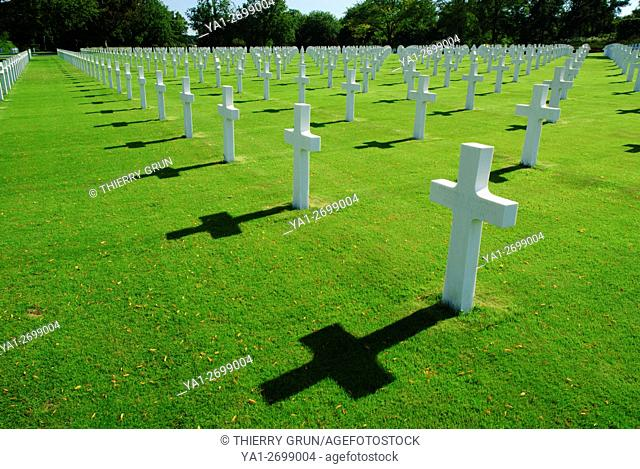 Largest WWII american military cemetery in Europe (10 489 graves), Saint Avold, Moselle, Lorraine, France
