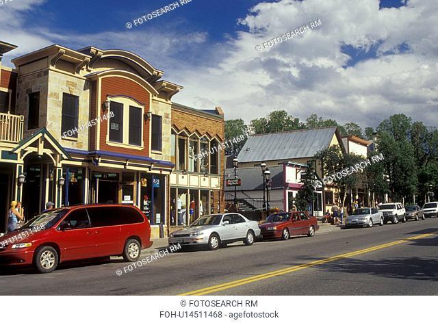 Breckenridge, CO, Colorado, downtown, resort town