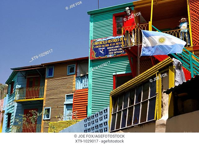 colourful historical buildings in caminito street la boca capital federal buenos aires republic of argentina south america