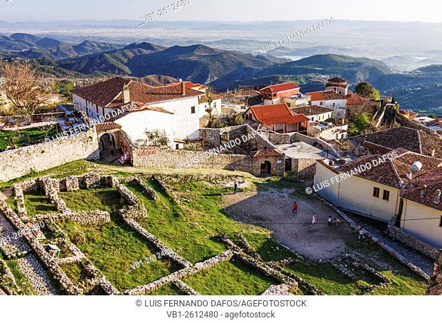Bektashi tekke, Ethnographic museum and old buildings by the ruins of the Kruja Castle, Albania