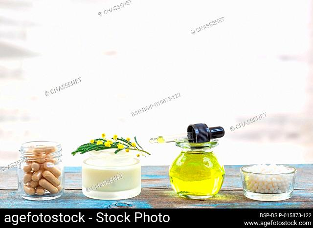 Products derived from mimosa for health and cosmetics