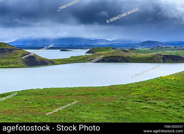 Skútustaðagígar Craters, Northwestern Region, Iceland