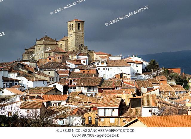 Jewish quarter and Santa Maria de Aguas church XVI-XVII centuries, Hervás, village declarated Historical-Artistic Site  Caceres province  Spain