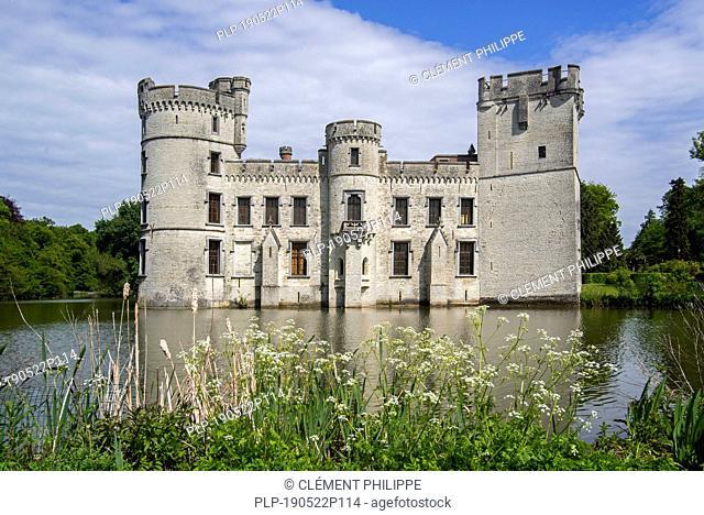 Neo-Gothic Bouchout Castle / Kasteel van Bouchout in the Botanic Garden Meise near Brussels, Belgium
