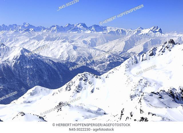 Les Aiguilles d' Arves, Aiguille Meridionale, Aiguille Centrale d' Arves, Aiguille Tete de Chat, Grandes Rousses Arves, Parc nat