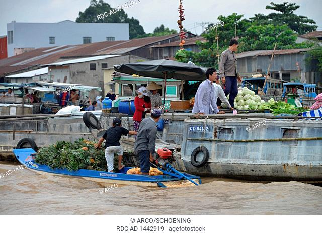 Schwimmender Markt Cai Rang, Song Can Tho, Can Tho, Vietnam