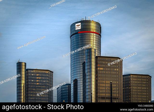 General Motors Renaissance Center in Detroit, MI