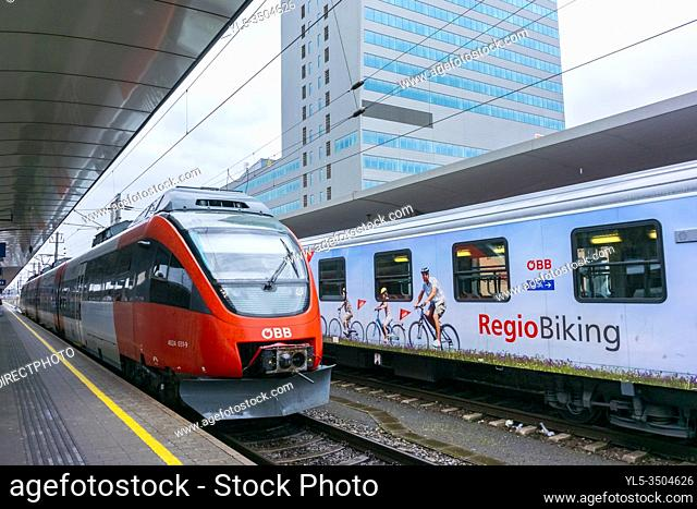 Vienna, Austria, Austrian Train, Outside in Train Statin