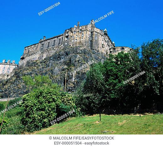 Edinburgh Castle, South side. Edinburgh. Scotland