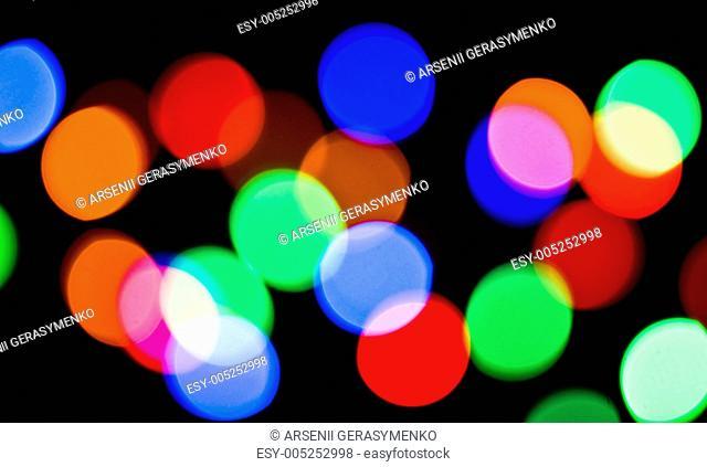 Blurred colorful festive lights