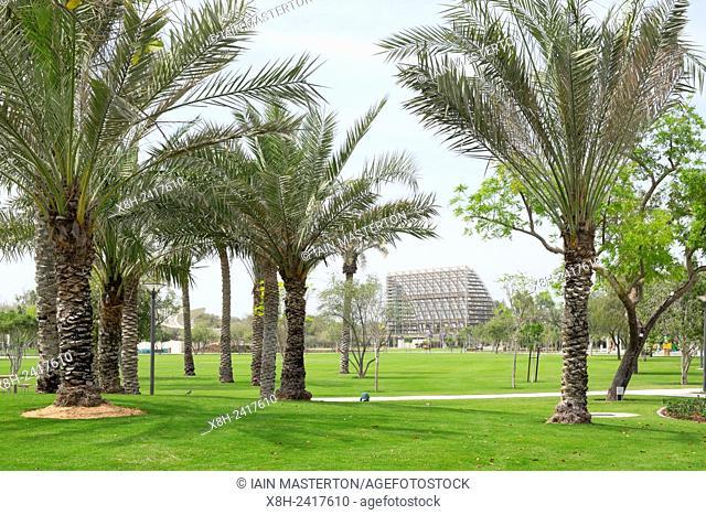 New Mushrif Central Park in Abu Dhabi United Arab Emirates