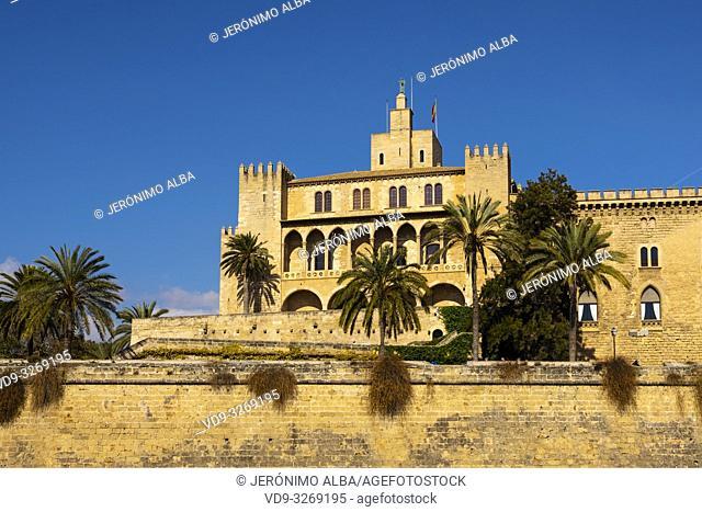 Royal Palace of La Almudaina, Palma de Mallorca. Majorca, Balearic Islands, Spain Europe