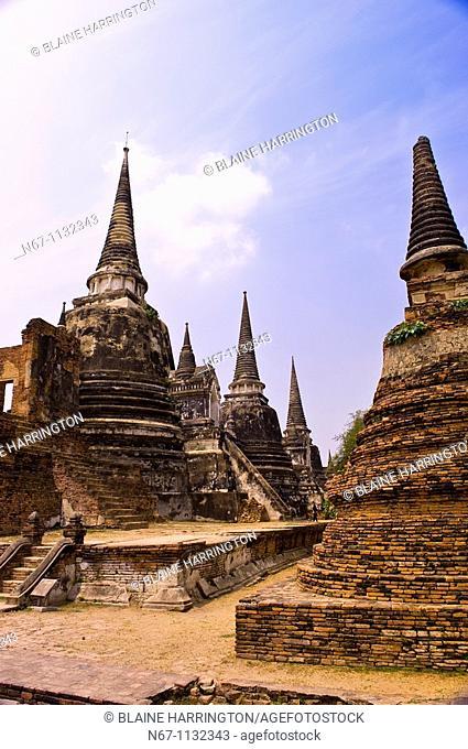 Wat Phra Sri Sanphet, Ayutthaya Historical Park, Ayutthaya, near Bangkok, Thailand