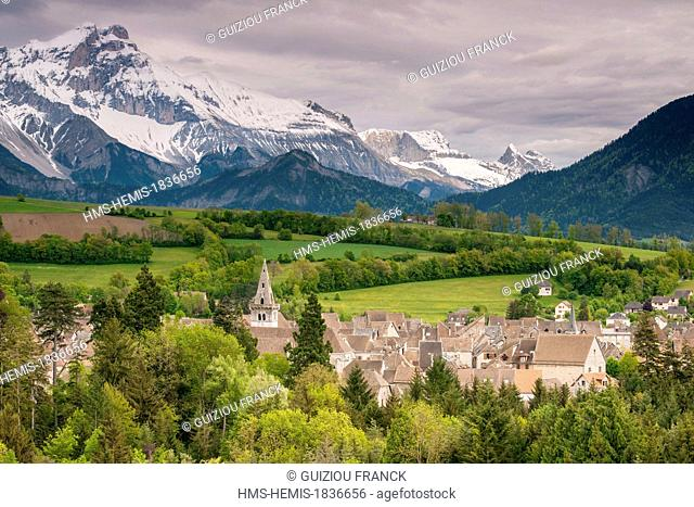 France, Isere, Trieves region, the village of Mens, capital of Trieves region