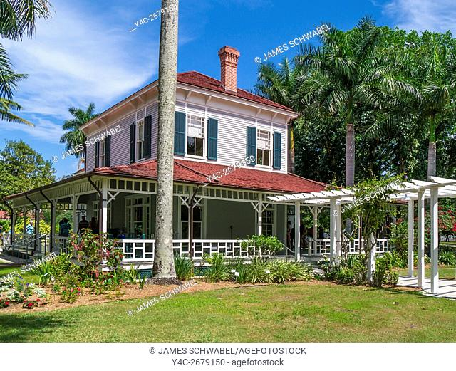 Edison main house at Edison and Ford Winter Estates in Fort Myers Florida