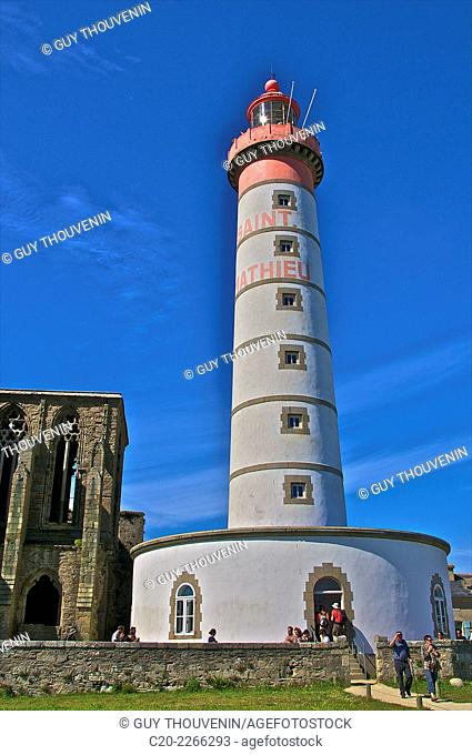 Light house, Saint Mathieu Pointe, Brittany, Finistere 29, France