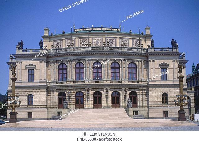 Facade of auditorium, Rudolfinum, Prague, Czech Republic