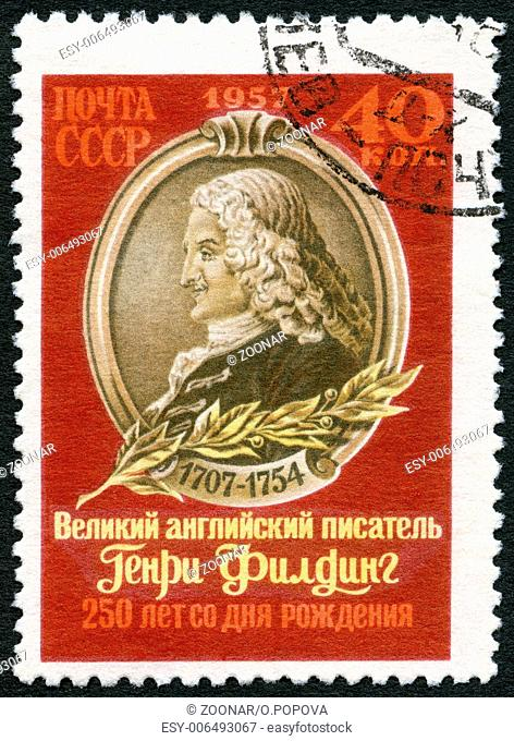 USSR - 1957: shows Henry Fielding (1707-1754)