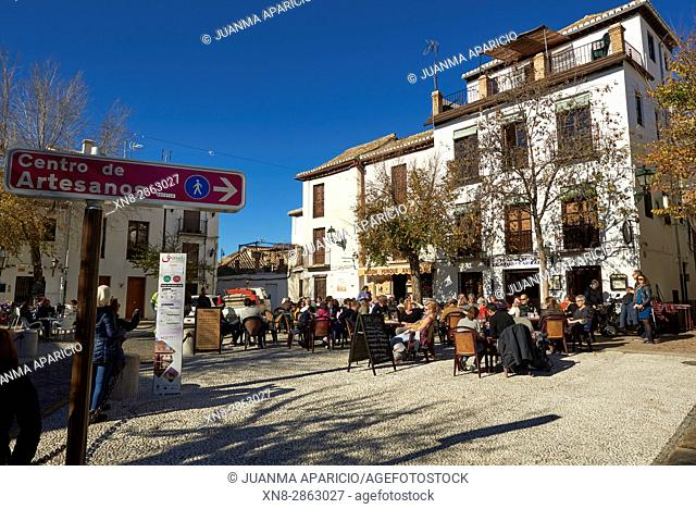 Plaza de San Miguel Bajo, Granada,Spain, Europe