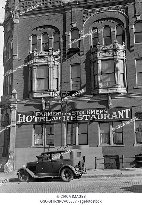 Stockmen's Hotel, South Omaha, Nebraska, USA, John Vachon, Farm Security Administration, November 1938