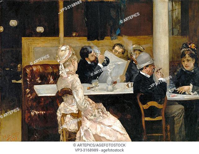 Gervex. Henri - Cafe Scene in Paris