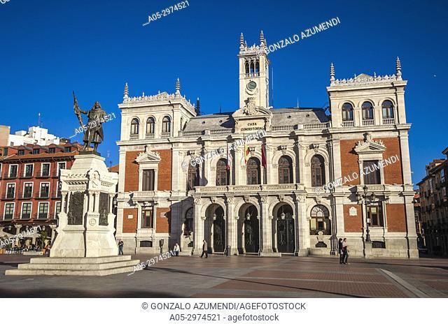 Town Hall at Plaza Mayor Square,Valladolid, Castilla y Leon, Spain
