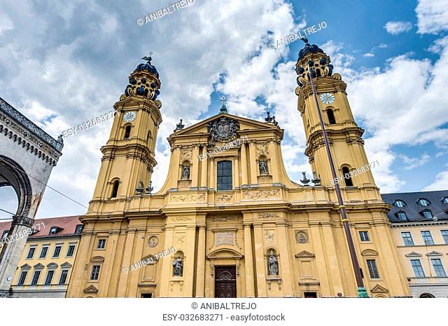 The Theatine Church of St. Cajetan (Theatinerkirche St. Kajetan), a Catholic church in Munich, founded by Elector Ferdinand Maria and his wife