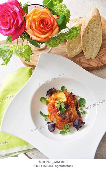 Melanzane alla parmigiana Italian aubergine bake