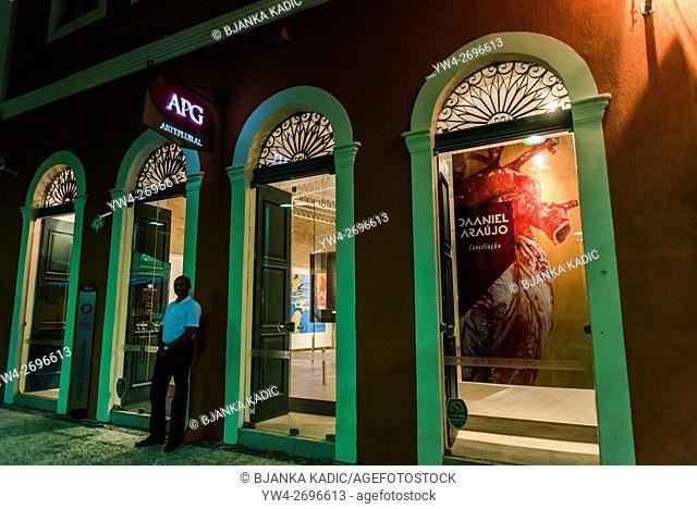 Contemporary art gallery in old, colonial building, Recife Antigo, Recife, Pernambuco, Brazil
