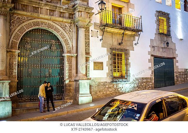 Main Facade of Casa de la Moneda, Potosi, Bolivia
