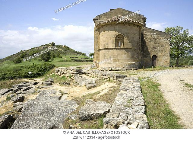 Santa Maria de la Piscina romanesque church at San Vicente de la Sonsierra La Rioja Spain