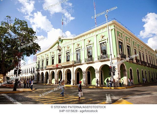 Palacio de Gobierno or Palace of Government  Merida, Yucatan, Mexico