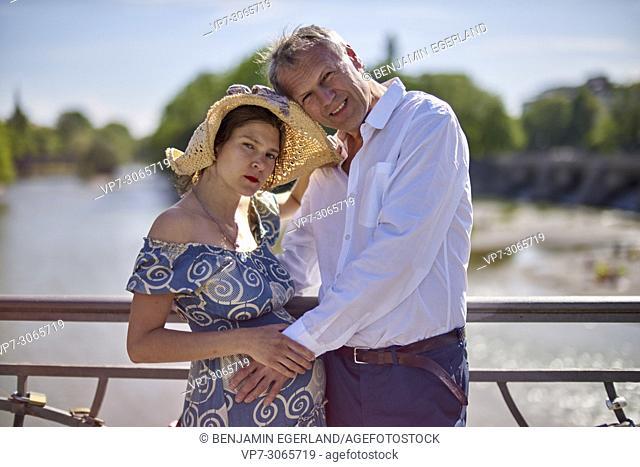 Couple, pregnancy. Munich, Germany