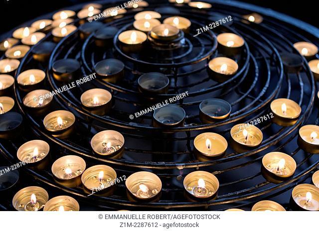 Candles in Notre Dame de Paris Chruch, France