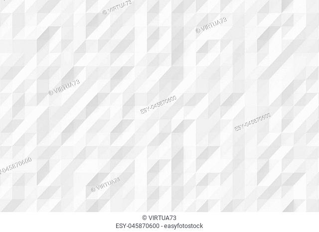 Abstract white modern background of polygons 3d Illustration
