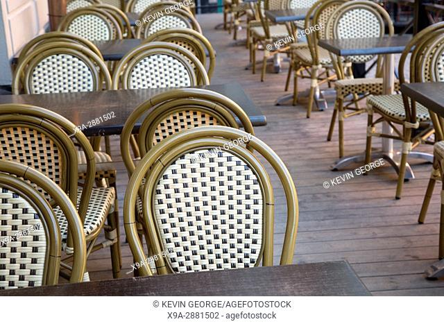 Cafe Table and Chairs, Stortorget Square, Gamla Stan - City Centre, Stockholm; Sweden