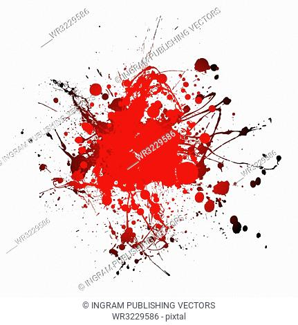 grunge blood ink splat abstract shape with room for text