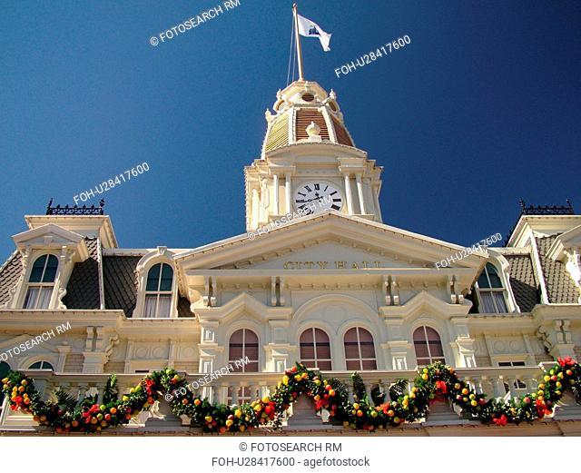 Orlando, FL, Florida, Walt Disney World Resort, Magic Kingdom Park, Main Street U.S.A City Hall (Editorial Use Only)