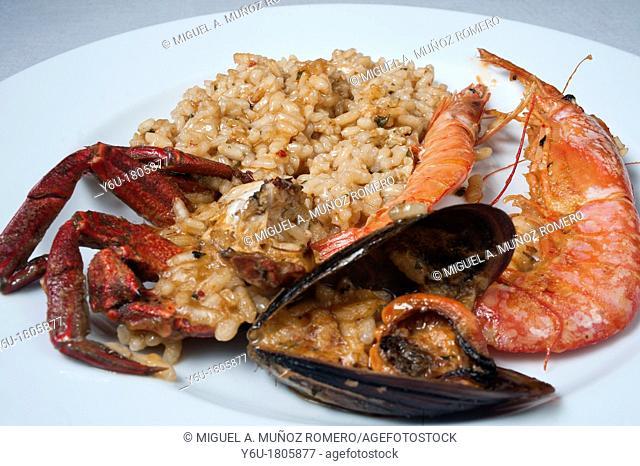 SEAFOOD PAELLA DISH- SPAIN