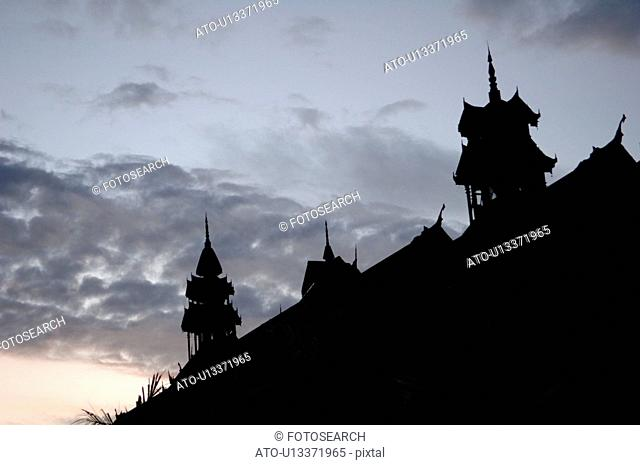 Silhouette of Temple